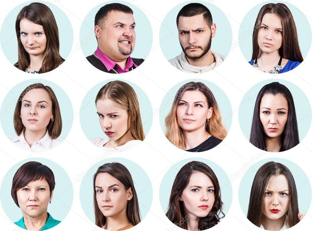 Imágenes Personas Collage De Diferentes Personas Con Emociones De