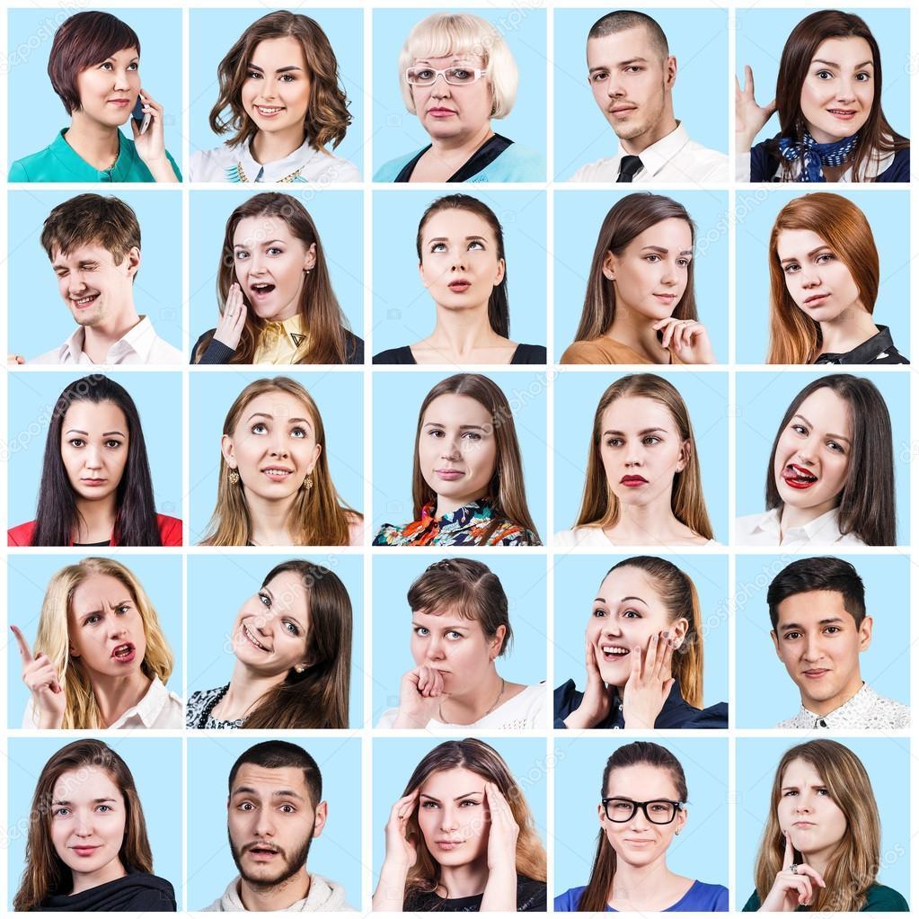 Imágenes Diferentes Emociones Personas Que Expresan Diferentes