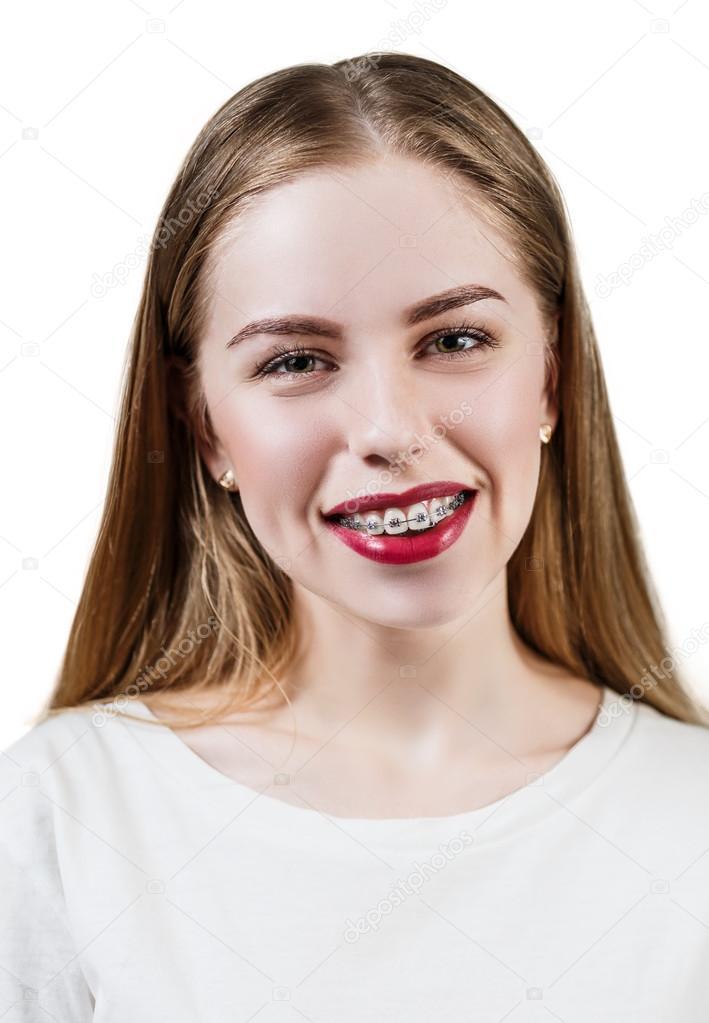 Teen Mit Zahnspange
