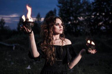 Portrait of dangerous woman