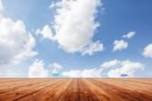 Beauty seascape under blue clouds sky