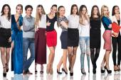 Skupina krásných mladých žen