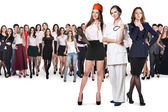 Fotografie Successful business women of different professions