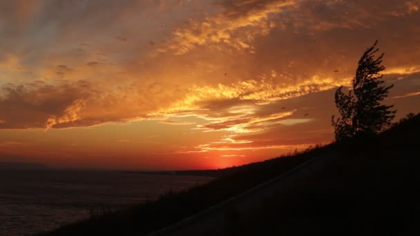 Krása na západ slunce, větru a otevřený prostor