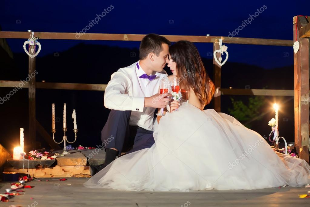 Romantic Beautiful Luxurious Wedding Ceremony With Candles Of Ha Stock Photo C Maksymiv 118392428