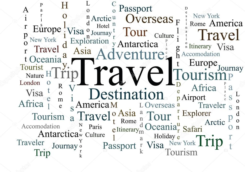 travel words on isolated background stock vector ajlber 104929328