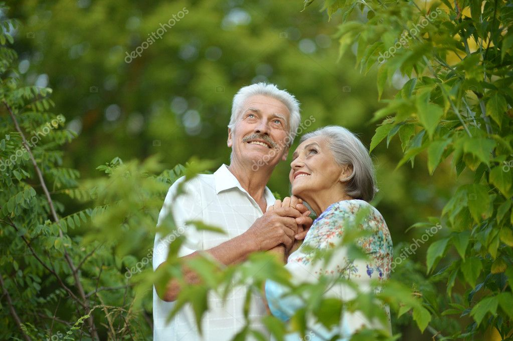 Mature couple in the park