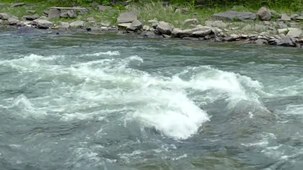 Slow motion. Mountain stream or river