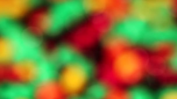 Abstract color spots in rotation