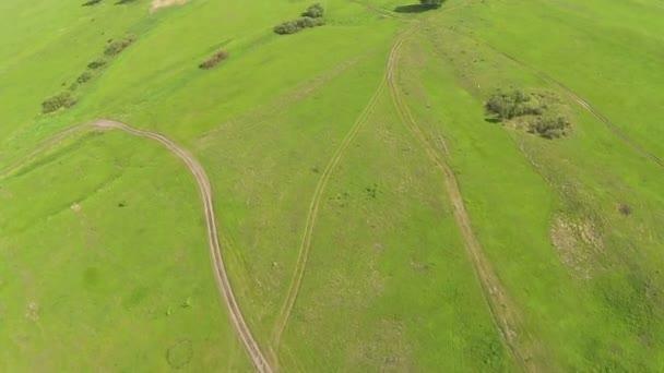 Flight of drone with decrease. POV FPV clip