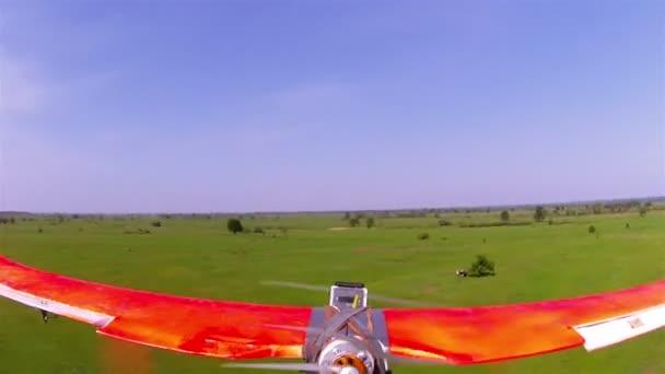 Plane  drone  lanfing .