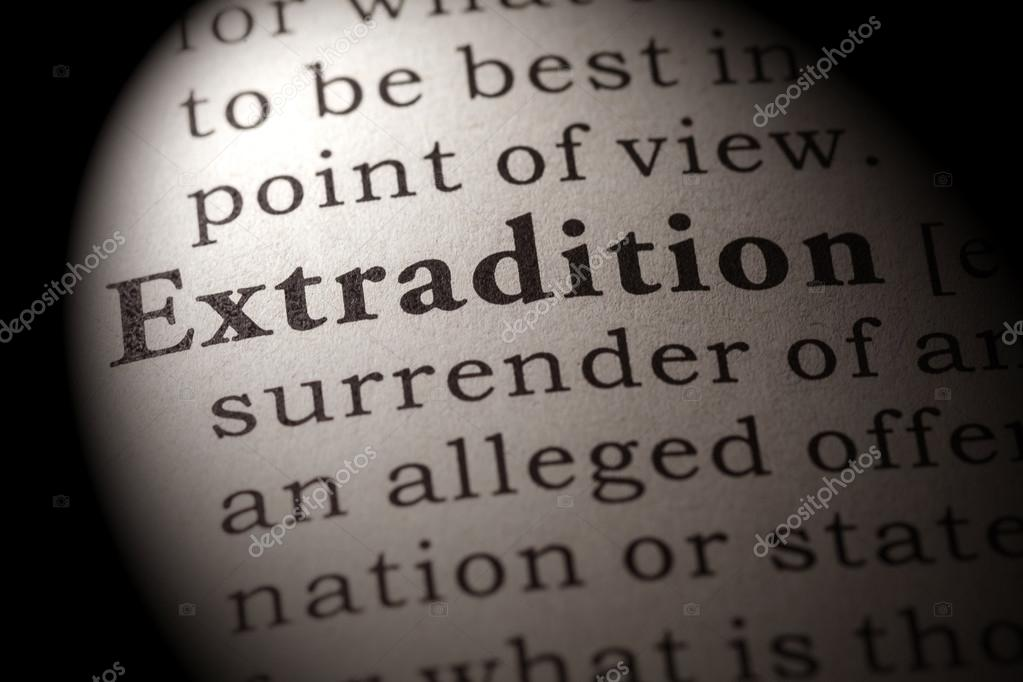 Definition Of The Word Extradition U2014 Stock Photo