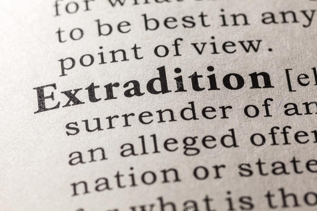 Captivating Definition Of The Word Extradition U2014 Stock Photo