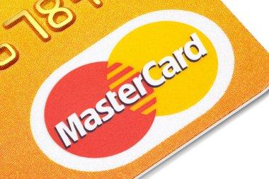 Mastercard credit card.