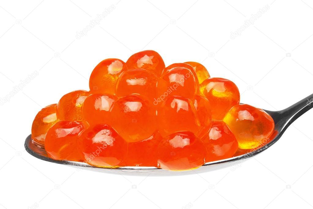 heaping teaspoon of red caviar stock photo jurisam 72429421
