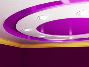 suspended ceiling with lighting