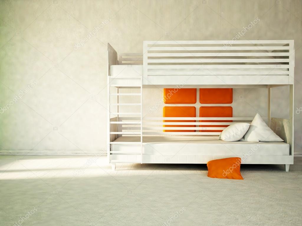 Wit stapelbed onderdeel van de slaapkamer u2014 stockfoto © minerva86