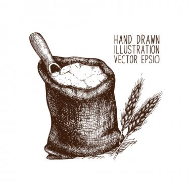 Bag of flour illustration