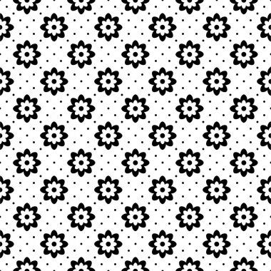 Pattern with ornamental flowers