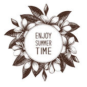 enjoy summer time with Plumeria frame