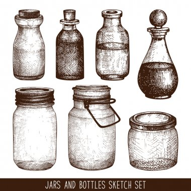 mason jars and bottles collection