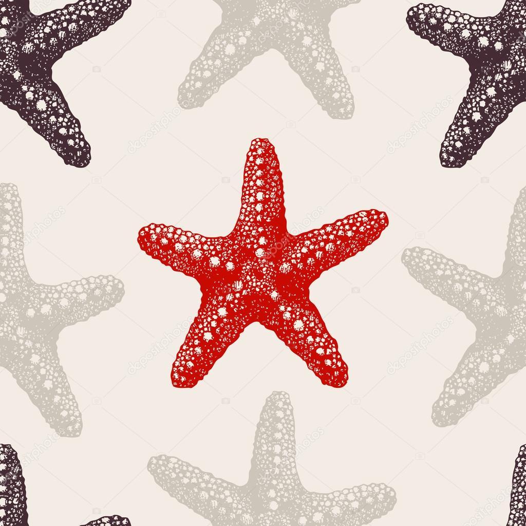 sea stars sketch pattern