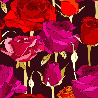 Background with decorative roses.