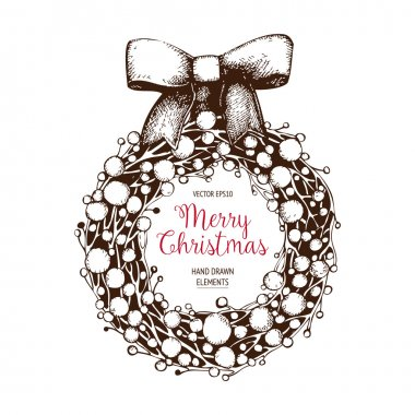Vintage Christmas and new year decoration