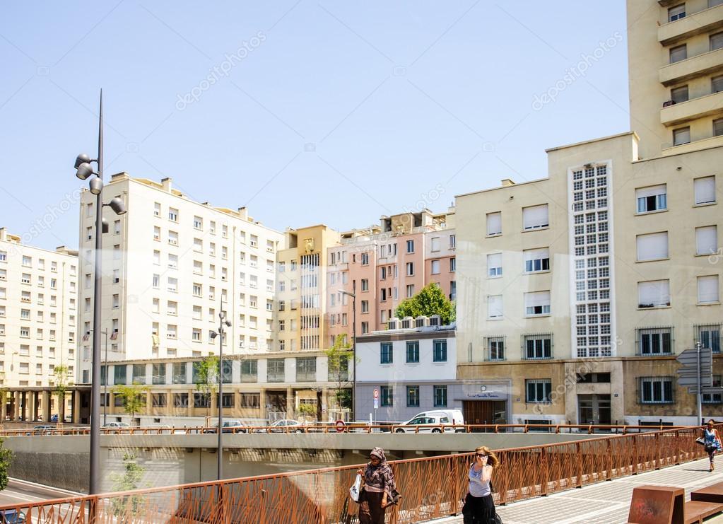 Centrum Van De Stad F Marseille Frankrijk Stockfoto