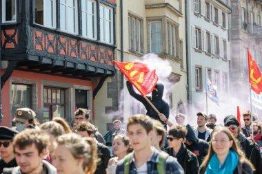 April protest against Labour reforms in France