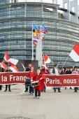 Protest proti fúzi regionu Alsasko Lotrinsko a Champa