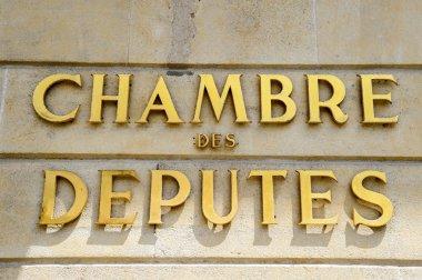 Chamber of Deputies signage