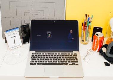 Apple Computers website showcasing new Apple Watch Series 3