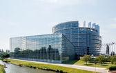 Velké fasáda Evropského parlamentu ve Štrasburku