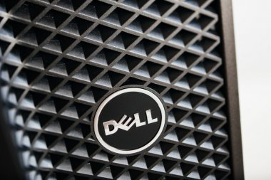 Dell Computers logo on workstation computer