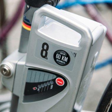 Electric bike motor close-up
