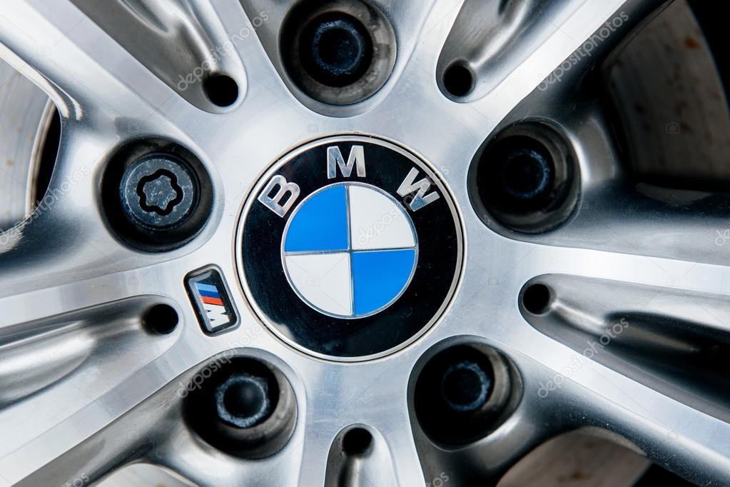 Alloy wheel with BMW insignia logo