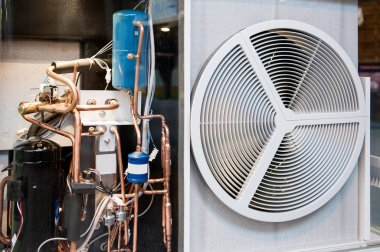 heating and AC air conditioning unit transparent