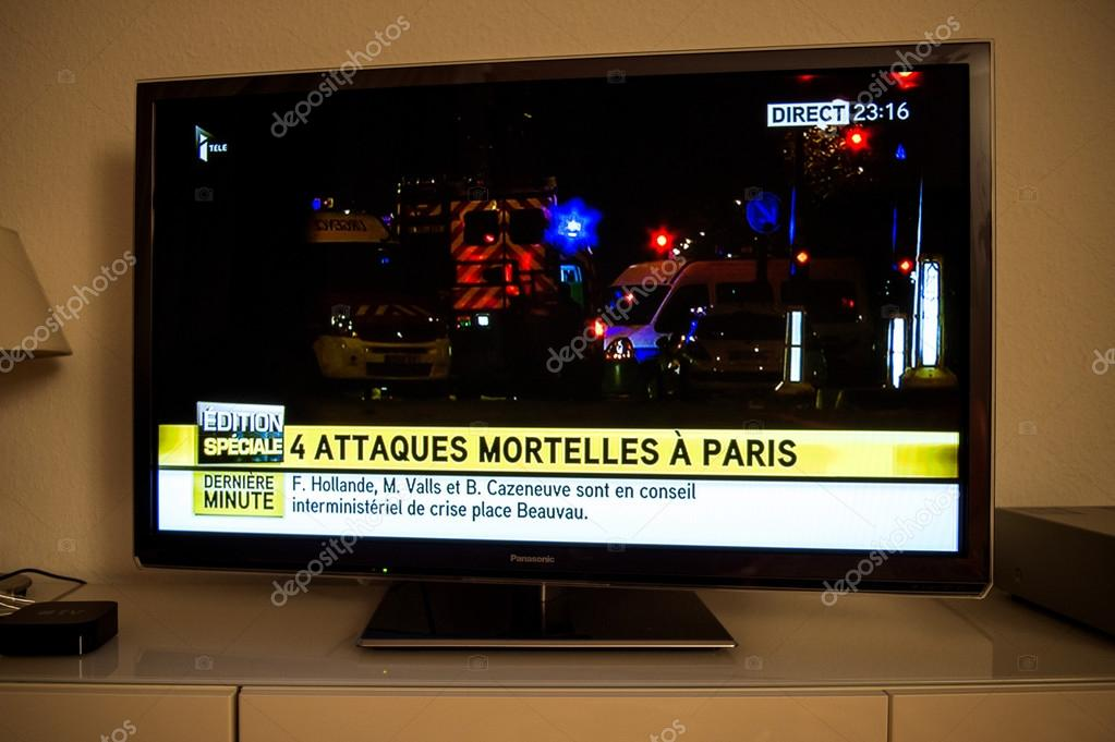 French Television reporting live about the attacks