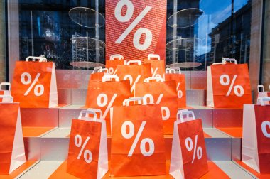 Marketing campaign with Sale Shopping bags i