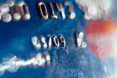 Abstract defocused credit card