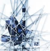 Fotografie Abstrakte technologischen Hintergrund mit Linien-Struktur von Eis die her