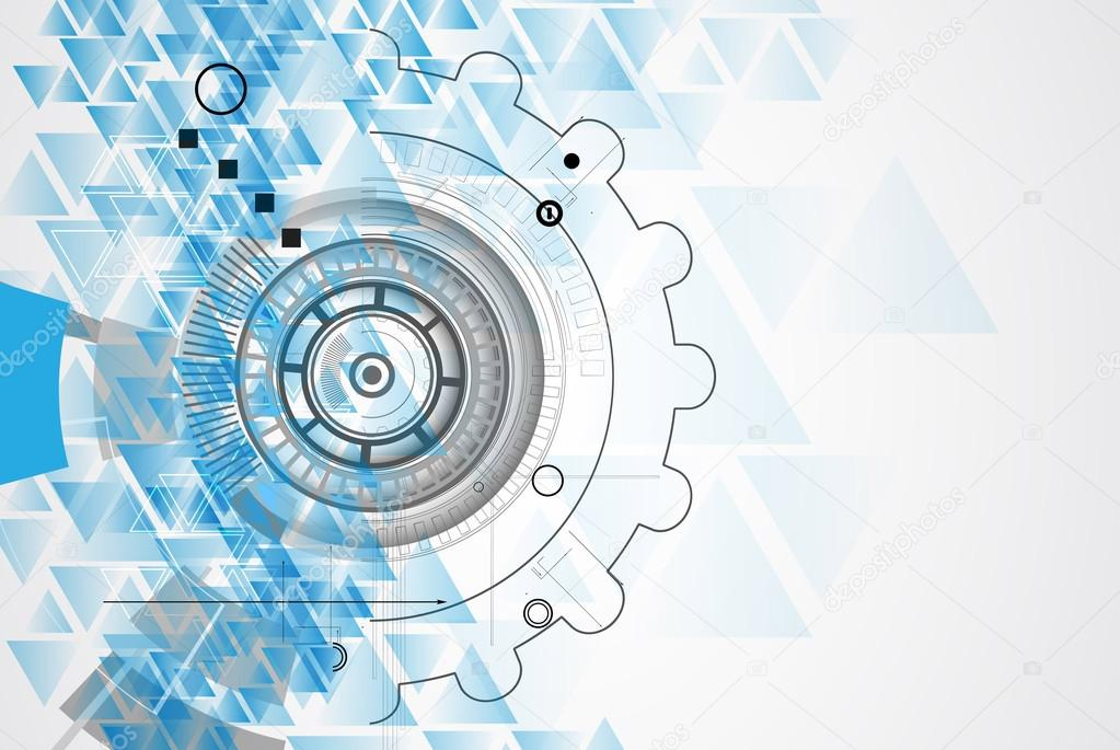 Technology Abstract Background Stock Illustration: New Future Technology Concept Abstract Background