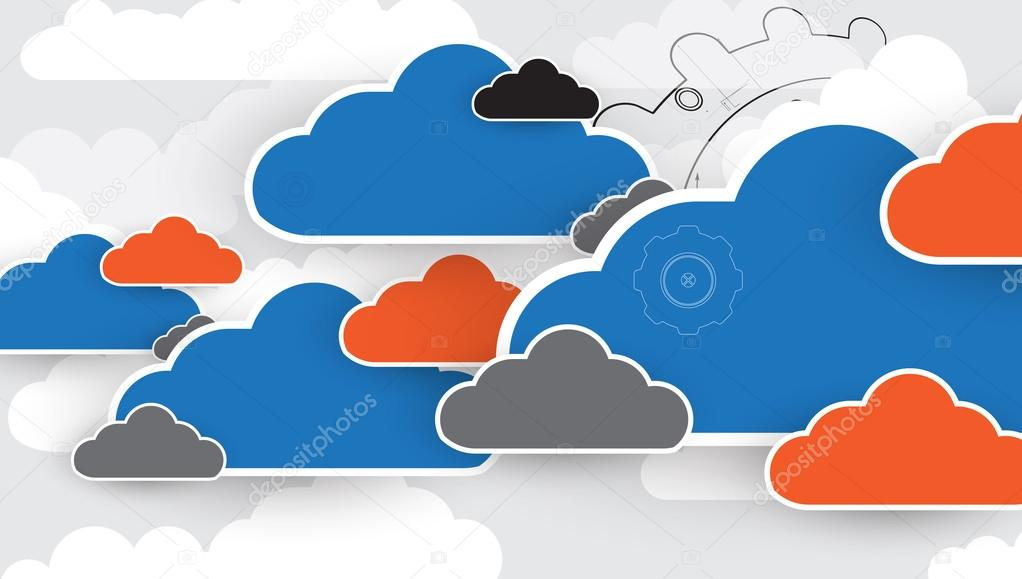 Integration technology with nature, sky. Best ideas for Business