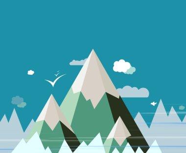 Abstract Mountain landscape vector design