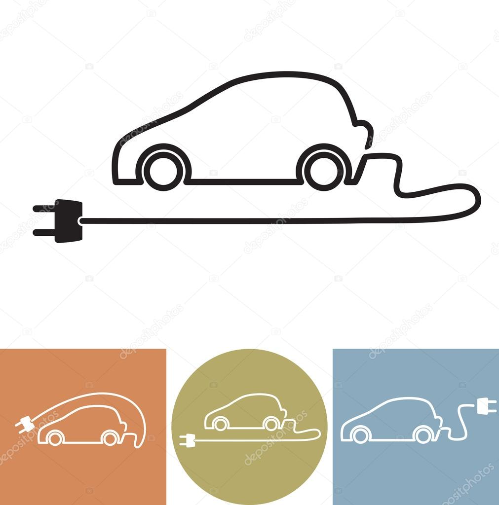 Elektroauto-Vektor-Symbol — Stockvektor © vska #86633358