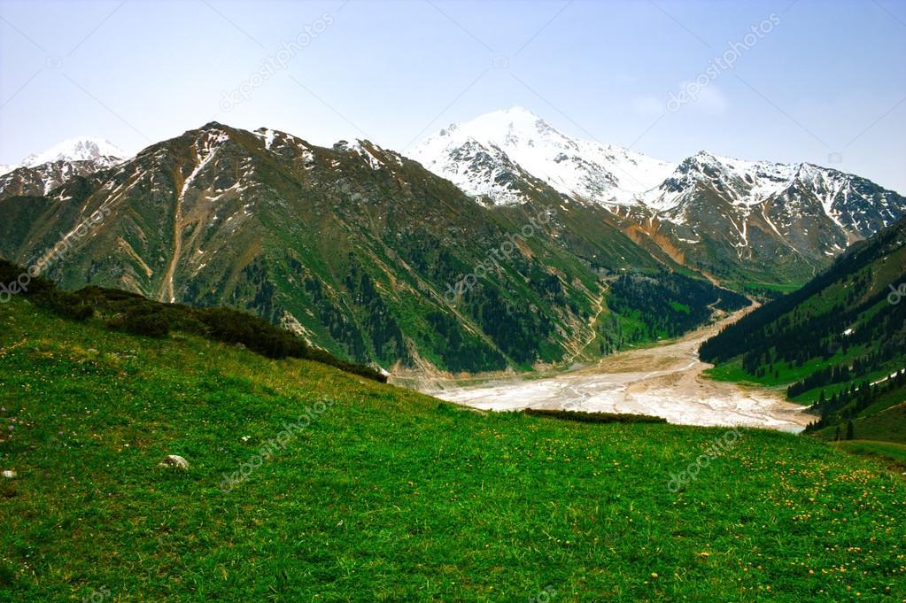 Big Almaty Lake, Tien Shan Mountains in Almaty, Kazakhstan, Asia