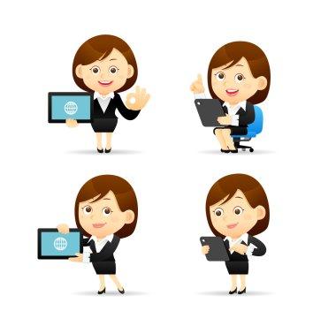 illustration - Businesswoman set