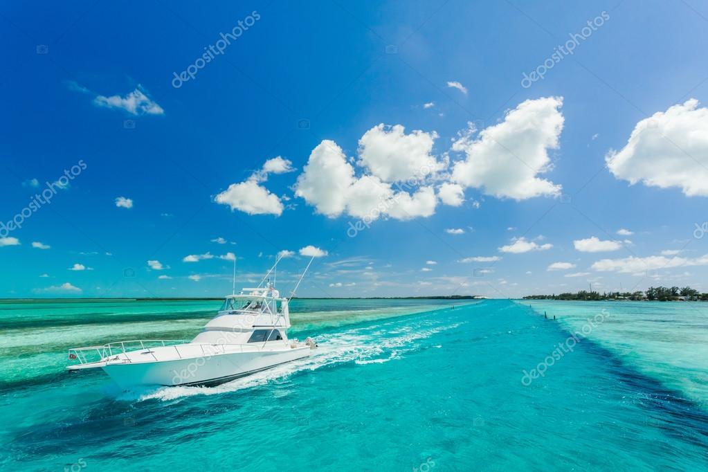 Beautiful yacht in a sea