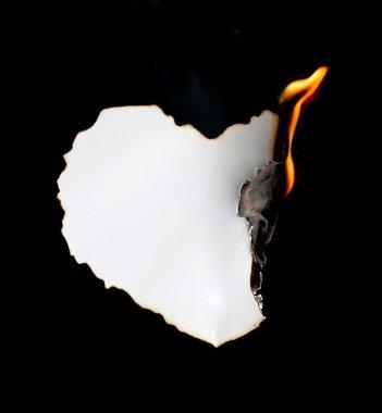 burning paper